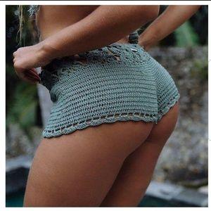 Ultra Flirt Crochet Shorty Shorts